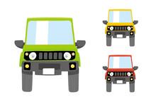 Deformed Cute Car Illustration...