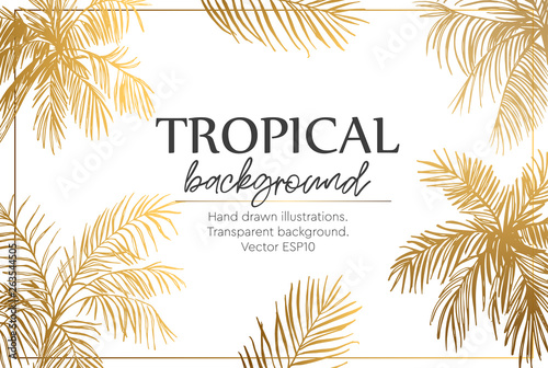 Background with palm trees Canvas Print