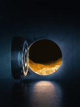 Open Bank Vault With A Bright ...