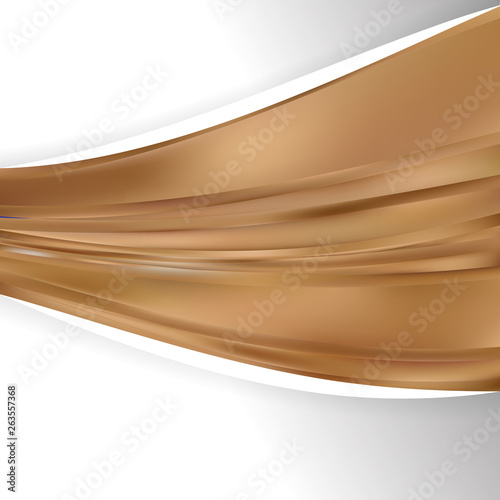 Fotobehang Fractal waves Abstract Brown Wave Business Background