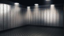 Inside View Of A Bank Vault. 3...
