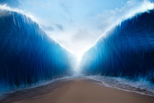 Parting The Red Sea Concept, Photo Composite