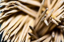 Macro Shot Of Group Of Toothpicks