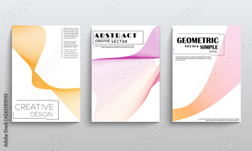 Fototapety, obrazy: stock vector covers templates set with graphic geometric elements applicable for brochures posters covers