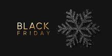 Black Friday Sale. Banner, Poster, Logo Golden Color On Dark Background