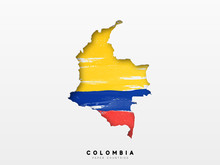 Colombia Detailed Map With Fla...