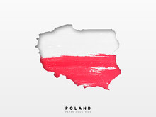 Poland Detailed Map With Flag ...