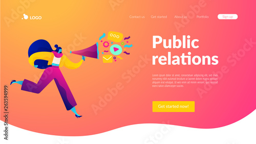 Fotografia, Obraz  Public relations and affairs, communication, pr agency and jobs concept
