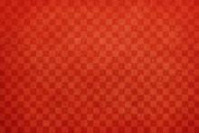 和紙 赤 市松模様 ビンテージ テクスチャ