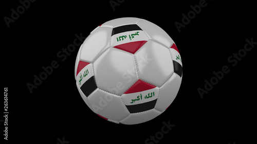 Fotografija  Soccer ball with flag Iraq, 3d rendering