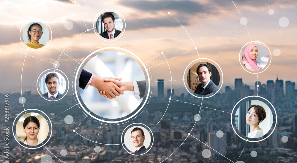 Fototapety, obrazy: グローバルビジネス