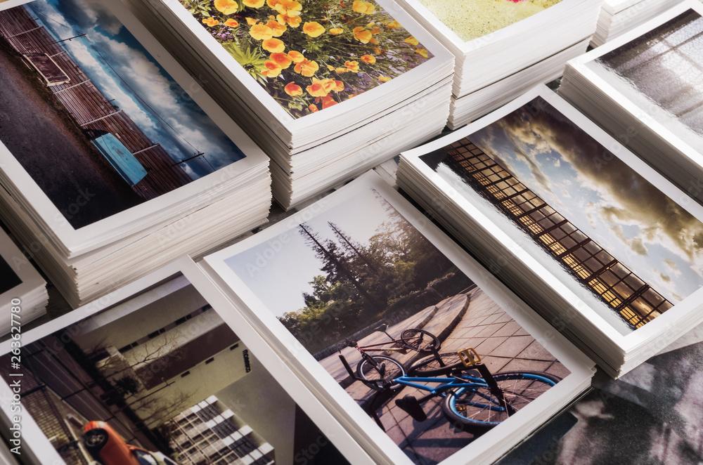Fototapety, obrazy: 積み重ねたフォトプリント