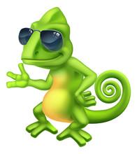 A Chameleon Cool Green Lizard ...