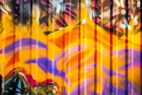 Unfocused abstract pattern on an iron fence Canvas Print