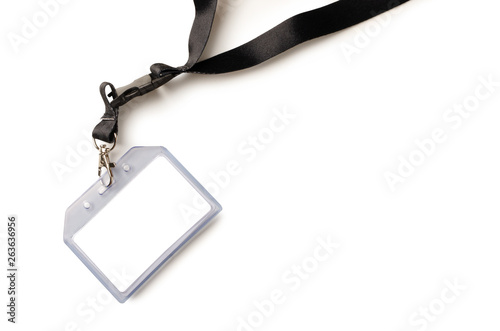 Fotomural  Empty ID card badge with black belt