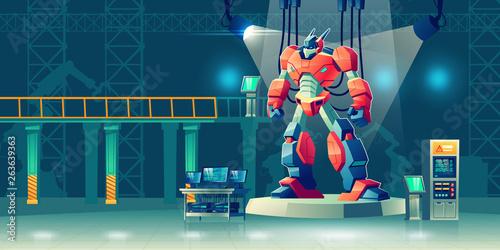 Fotografía  Battle robot transformer in science laboratory