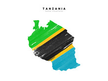 Tanzania Detailed Map With Fla...