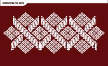 Illustration Of Indonesian Javanese Batik Paintings, Fabric Lines, Seamless Patterns ,  Vector Illustration