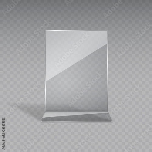 Fotografie, Obraz Stand or acrylic table tent, card holder isolated on transparent background