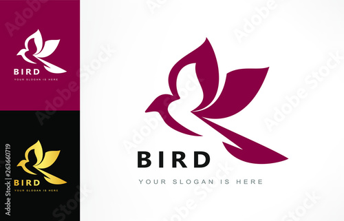 Bird logo vector Canvas-taulu