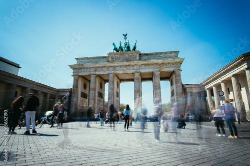 Spoed Fotobehang Berlijn The Brandenburger Tor, Brandenburger Gate in Berlin, Germany. Tourist attraction.