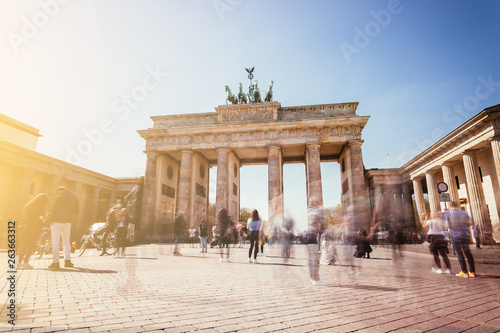 The Brandenburger Tor, Brandenburger Gate in Berlin, Germany. Tourist attraction.