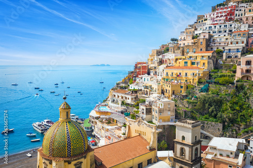 Beautiful Positano, Amalfi Coast in Campania, Italy.