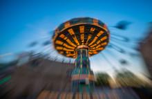 Spinning Wheel At Amusement  P...