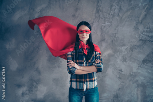 Photo  Close up photo beautiful fearless she her superpower lady comics costume heroine