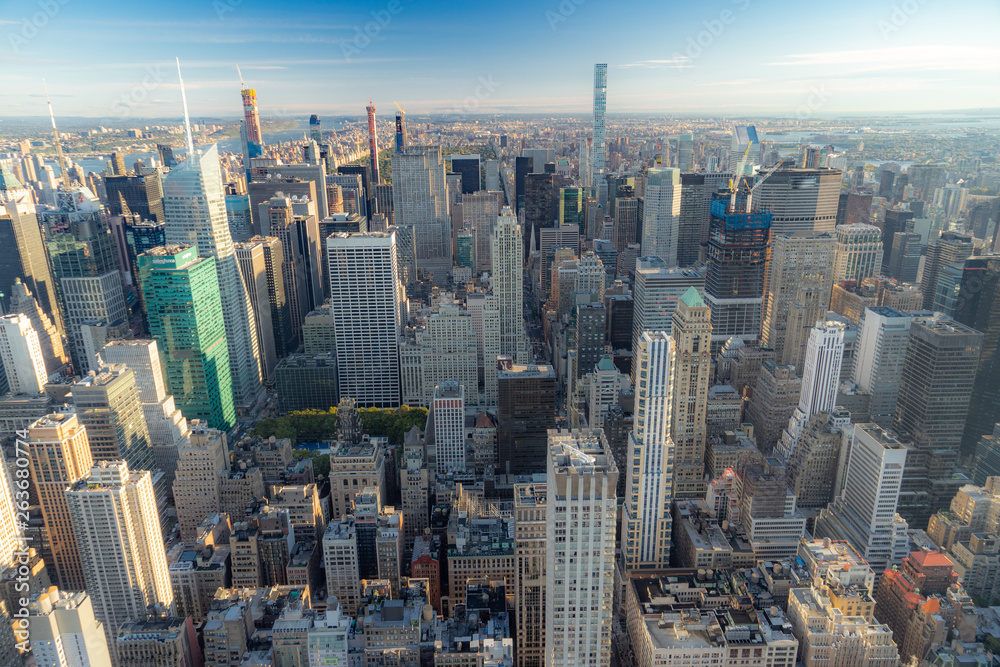 Fototapety, obrazy: Aerial view of New York City skyline, Manhattan