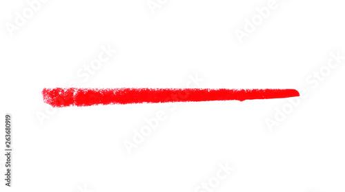 Kreidezeichnung: Roter Strich oder Linie