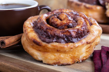 Closeup Of A Cinnamon Roll And...