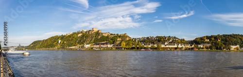 Fotomural Panorama Koblenz Feste Ehrenbreitstein