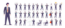 Businessman Character Set. Cha...