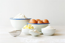 Ingredients For Making Dough, ...