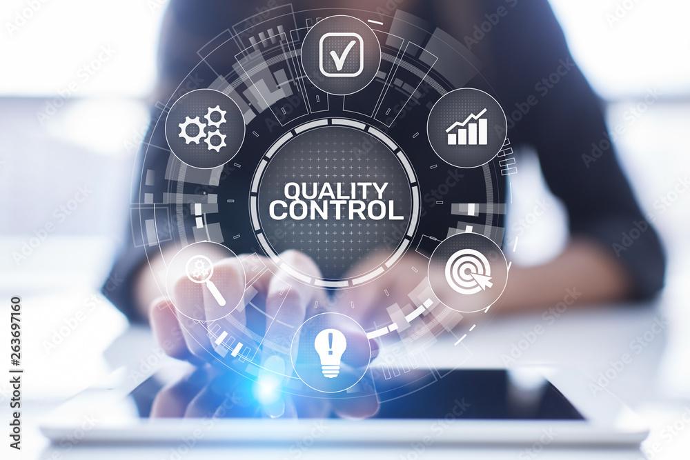 Fototapeta Quality control assurance standards business technology concept.