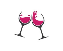 Wine Glasses Toasting Logo Ico...