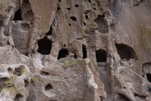 Sandstone Cliff Dwellings With...