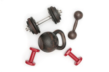 Kettlebell And Dumbbells On Wh...