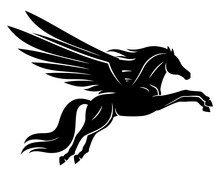 Beautiful Black Pegasus Sign O...