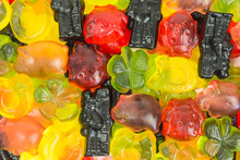 Background Of Fruity Gummy Can...