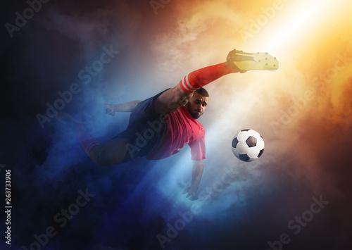 Obraz na plátně  Football player in action