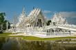 Leinwanddruck Bild - Weißer Tempel in Chiang Rai