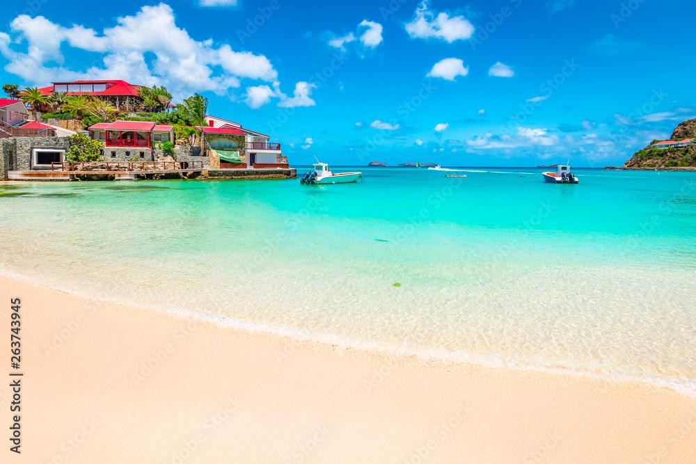 Fototapety, obrazy: Beach in St Barts, Caribbean Sea.