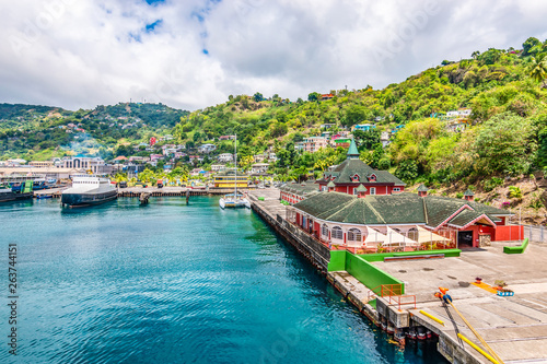 Photo Stands Caribbean Port of Kingstown, St Vincent and the Grenadines