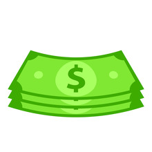 Cash Money Bundle Icon. Clipar...