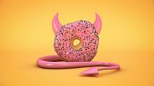 Donut Diabolique. 3d Rendering