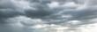 Leinwandbild Motiv rain clouds, rainy storm