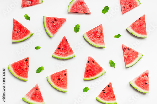 Fotografia, Obraz Fresh watermelon slices pattern
