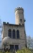 kleine Burg in Hannoversch Gemünden vor  blauem Himmel